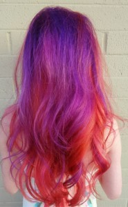 Neon hair coloration