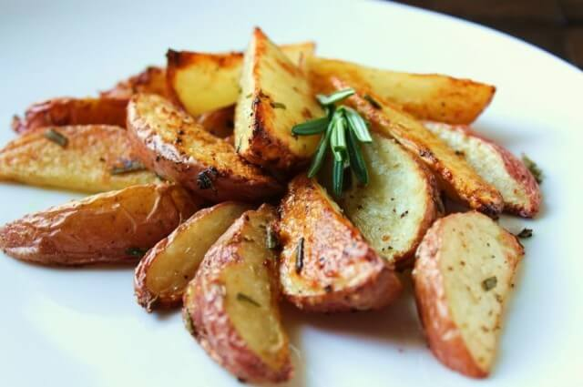 Potatoes baked in oven