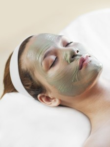 clay mask to removal red spots