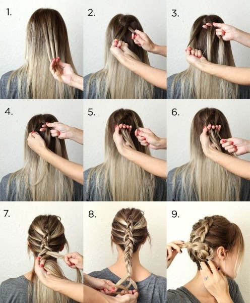 The reversed French braid