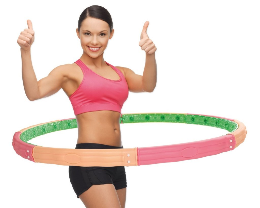 exercises with hula-hoop