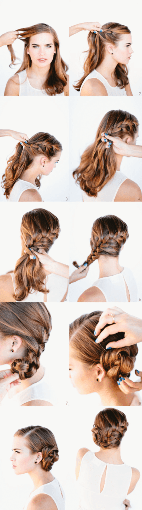 French braid of knots
