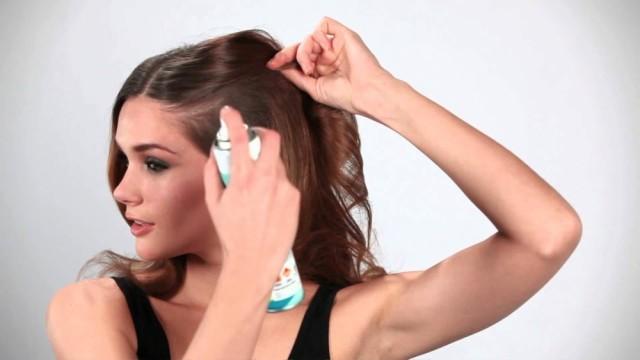 using dry shampoo