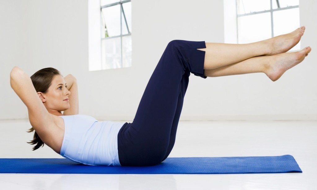 Exercises from the saggy skin on the abdomen