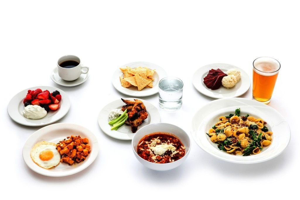 Table of food calories