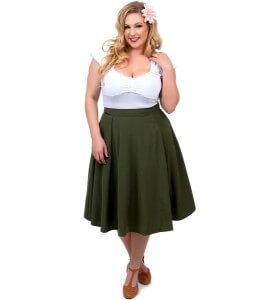 skirts for plus-size woman