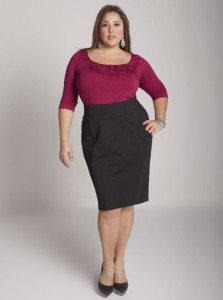 Different styles of skirts for plus-size woman