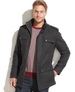 single-breasted men coat