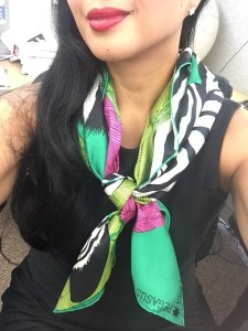scarf into a running knot