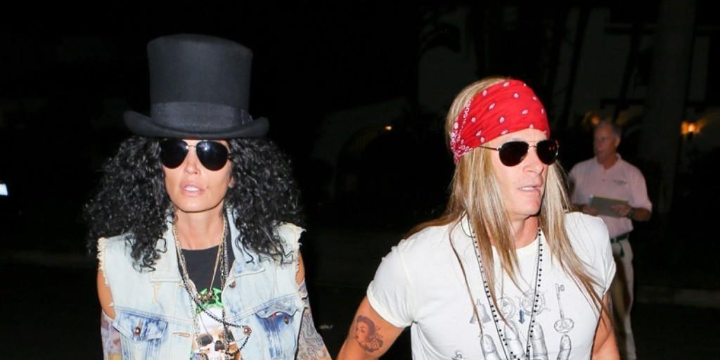 "Cindy Crawford ""Guns N Roses""."