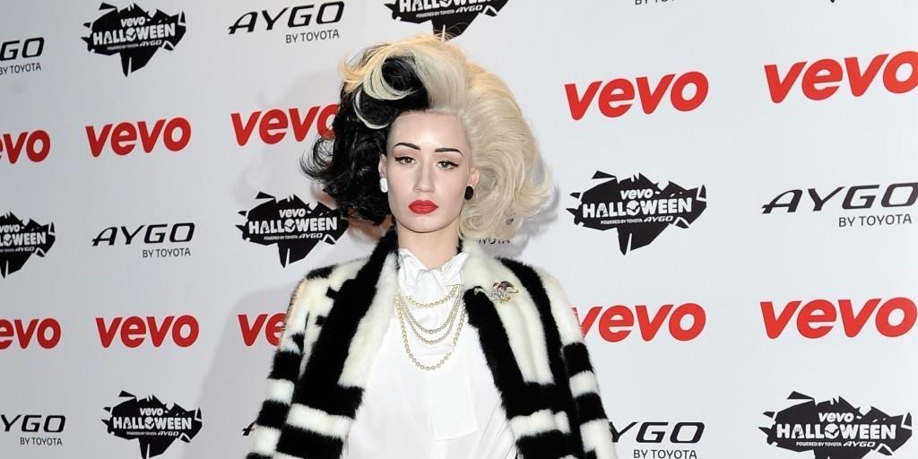 Iggy Azalea reproduced the look of Cruella DeVil