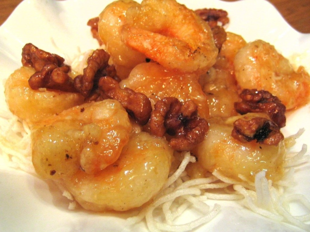 Shrimps with honey