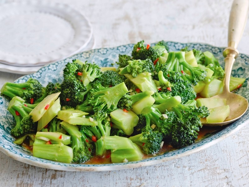 Broccoli in ginger sauce