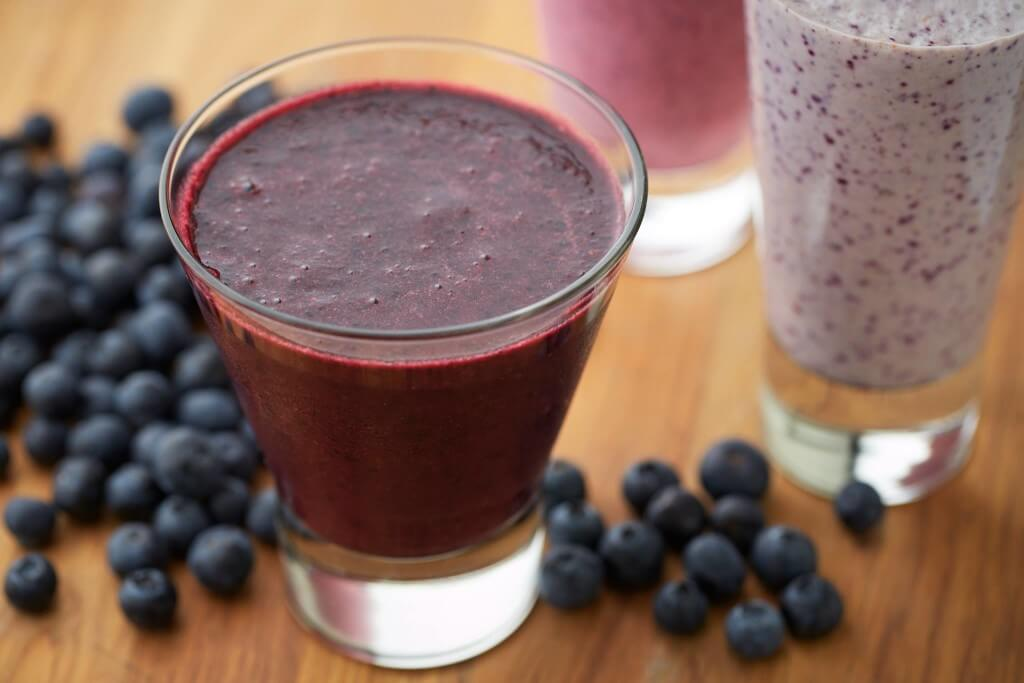 juice of blueberries