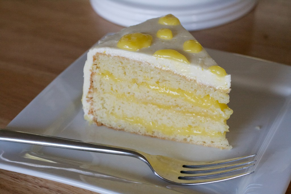 cake with curd cream