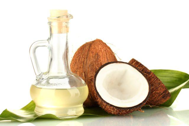 Coconut oil for hair masks