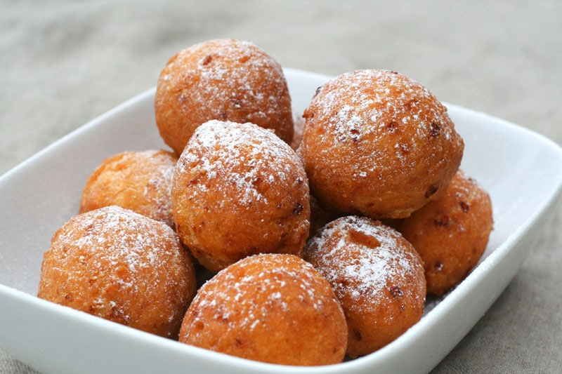American donuts with milk