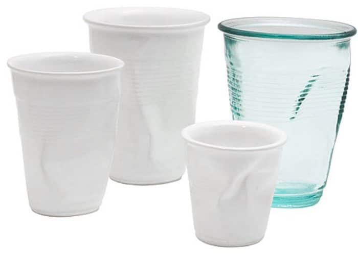 Crinkle Glass is similar to a disposable cup