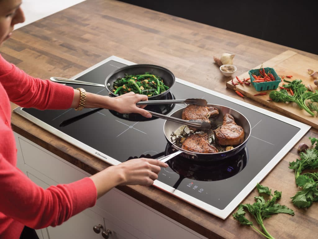 cooking on induction cooktop