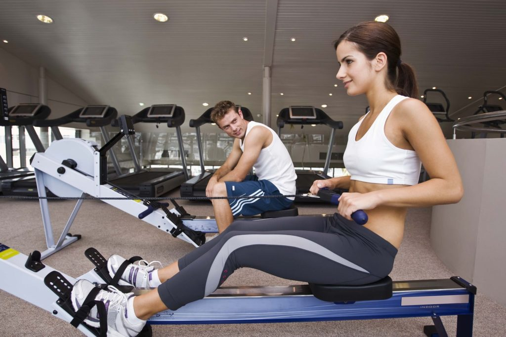 Meeting a man in a fitness club