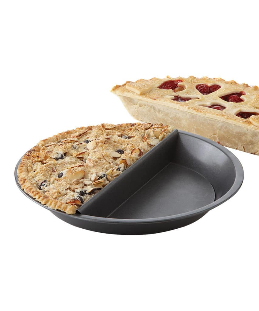new Split Pie Pan by Chicago Metallic