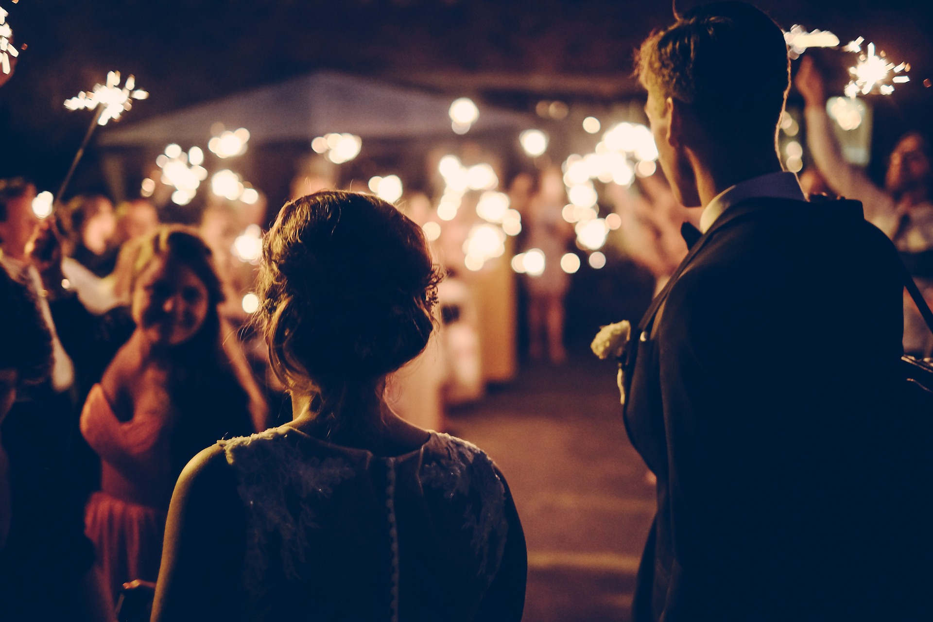 relaxed couple at their wedding reception